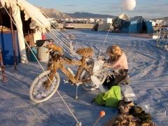 Erica and Her Leopard Bike
