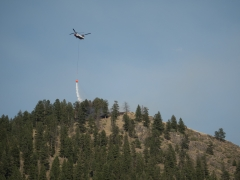 Chinook Helicopter over Goat Creek